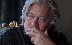 Stephen Bannon in a scene from 'The Brink.' (Courtesy Magnolia Pictures/Via The Times of Israel)