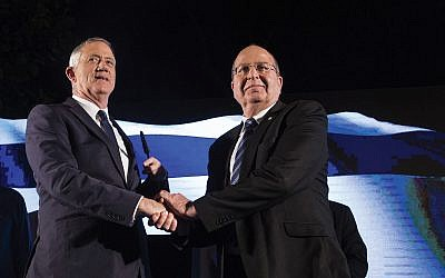 Blue and White party leaders Benny Gantz and Moshe Yaalon, could provide the first real opposition in years to counter Prime Minister Netanyahu.  Getty Images