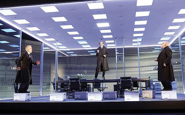 """Risk and reward: Simon Russell Beale, Ben Miles and Adam Godley in """"The Lehman Trilogy."""" Mark Douet"""