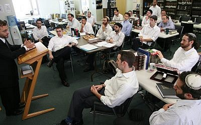 A class at Yeshivat Chovevei Torah in New York. (Courtesy of Yeshivat Chovevei Torah/via JTA)