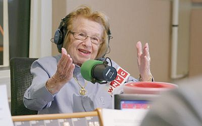 Dr. Ruth Westheimer during an interview on WNYC Radio. Courtesy of Hulu