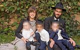 Rabbi Shmuel Notik and his wife Chaya and three children were assaulted in Kenya. (Facebook via JTA)