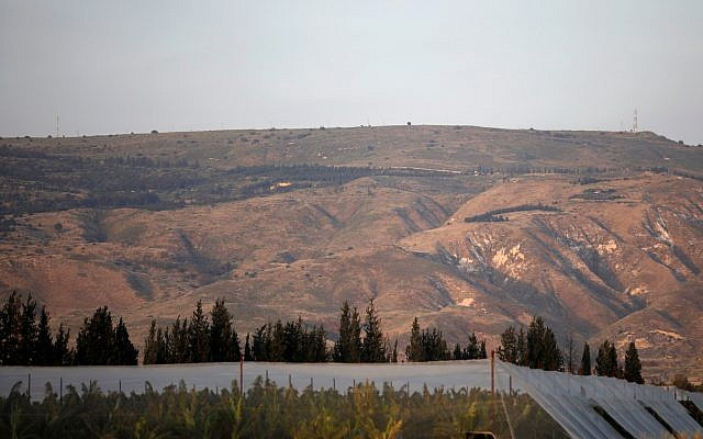 A picture taken on April 23, 2019 shows a general view of the Israeli-annexed Golan Heights, which Israel seized from Syria in the 1967 Six-Day War. JALAA MAREY/AFP/Getty Images