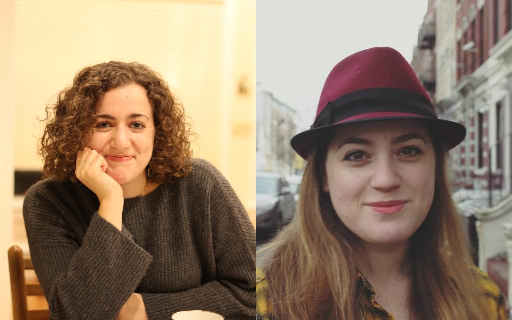 L-R: Shira Hanau and Hannah Dreyfus, staff writers at The Jewish Week.