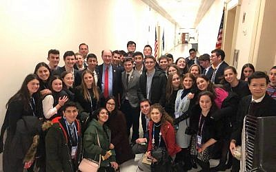 Sonya Kest and her classmates at the AIPAC Policy Conference. Photo courtesy of Sonya Kest.