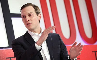 Jared Kushner participates in a panel discussion during the TIME 100 Summit 2019 in New York City, April 23, 2019 in New York City. (Brian Ach/Getty Images for TIME/via JTA)