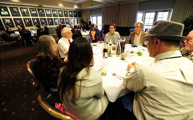 VANDENBERG AIR FORCE BASE, Calif.-- Team V members and local Jewish community members take part in a Passover Seder at the Pacific Coast Club (U.S. Air Force photo/Staff Sgt. Andrew Satran)