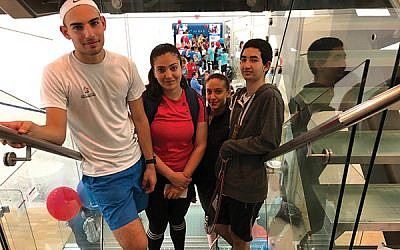 SquashBond Delegates (Left to Right: Boaz Hirsch, Shahd Bshara, Leen Fadila, Guy Manzur). Photos courtesy of Samantha Sinensky