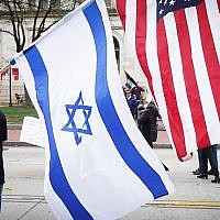 Illustrative photo: Israeli and American flags on view during a recent rally in Washington, D.C. Wikimedia Commons