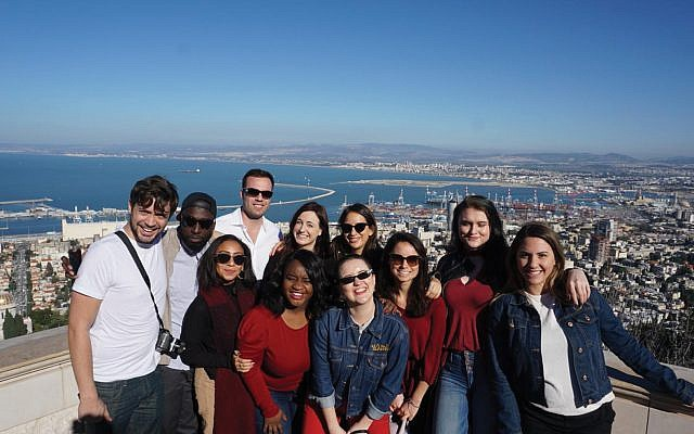 High on Haifa: Journalists' group gets an Israel education. Courtesy of Israeli Consulate