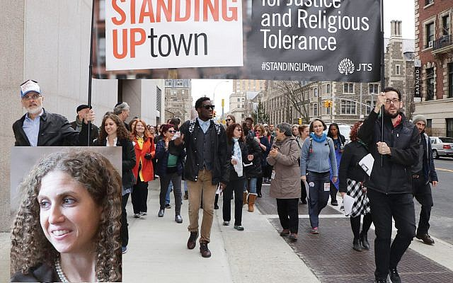 An interfaith justice march co-organized by JTS two years ago. Left, Rabbi Stephanie Ruskay. Photos courtesy of JTS