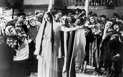 """Scene from Michal Waszynski's 1937 masterpiece """"The Dybbuk,"""" which screens at new Film Forum Yiddish Classics series. N.Y. Jewish Film Festival"""