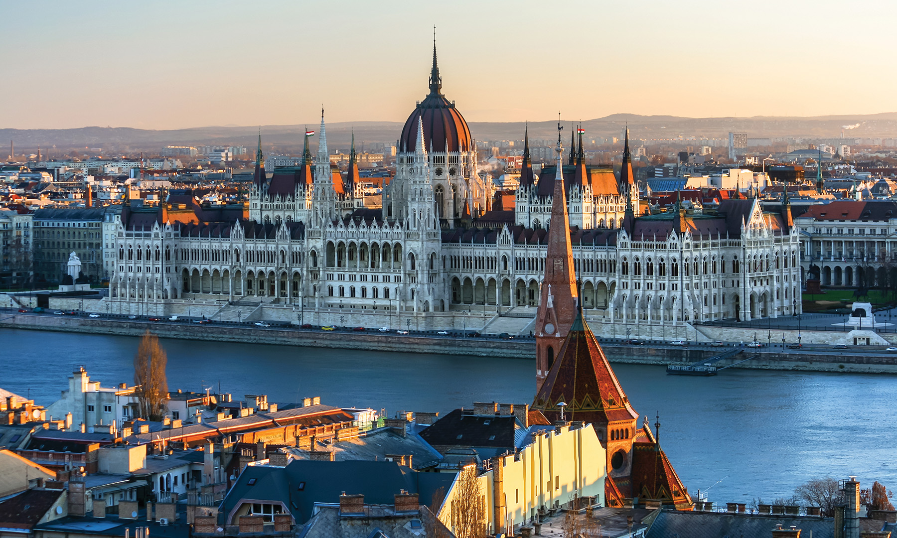 The Hungarian Parliament building along the Danube in Budapest. Photos by Flickr