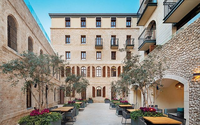 The courtyard of the Setai Hotel in Jaffa. It was once an Ottoman Empire prison. Courtesy Setai Hotel / Courtesy of Ritz-Carlton, Herzliya