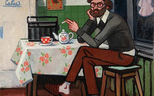 """Zoya Cherkassky's """"Voice of America"""" shows a Soviet dissident listening to a U.S. broadcast. """"I wanted to show it as I remember it,"""" Charkassky says. Courtesy of the artist and Fort Gansevoort, New York"""