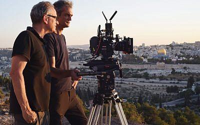 Israeli filmmaker Avi Nesher with his cameraman. Iris Nesher