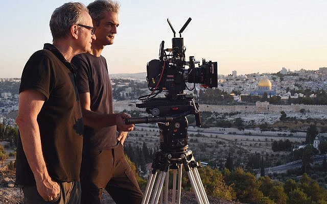 Israeli filmmaker Avi Nesher with his cameraman. Iris Nesher