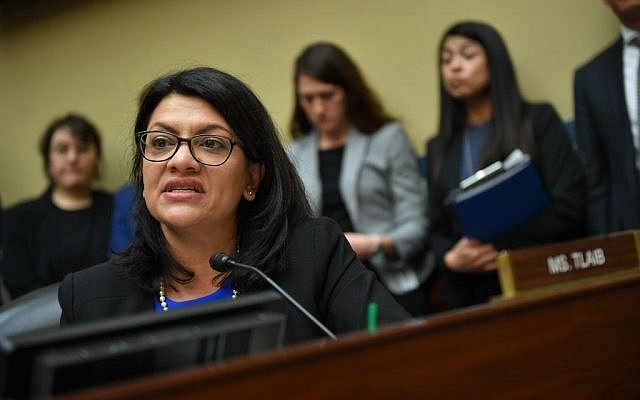 US Congresswoman Rashida Tlaib, Democrat of Michigan, questions Michael Cohen, US President Donald Trump's former personal attorney, as he testifies before the House Oversight and Reform Committee in the Rayburn House Office Building on Capitol Hill in Washington, DC on February 27, 2019. Getty Images