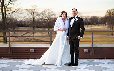 Gabe and Jennifer were married on February 17, 2019 at Montammy Golf Club in Alpine, New Jersey. Courtesy of Catalina Fragoso