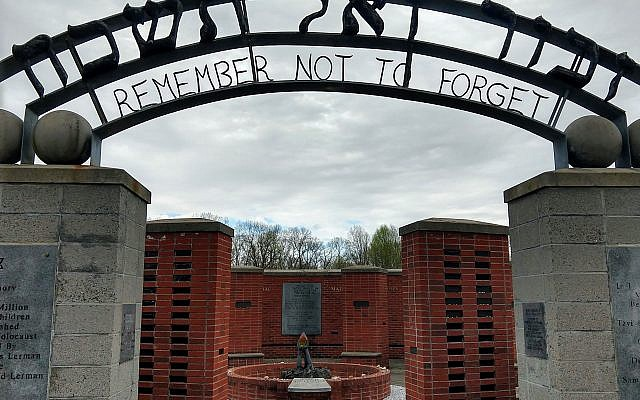 The Holocaust memorial in Pittsgrove Township, near Vineland, in southern New Jersey. Eli Reiter/JW