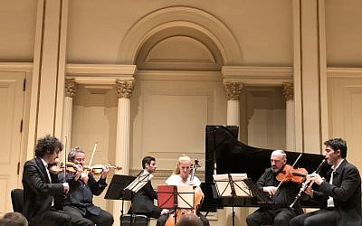 The Israeli Chamber Project performs at Carnegie Hall. Photo courtesy of Samantha Sinensky