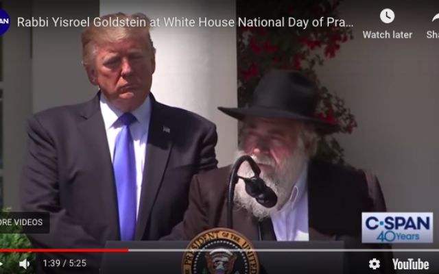 ecf4ac7151 Chabad Of Poway Rabbi Speaks At White House National Day Of Prayer Service