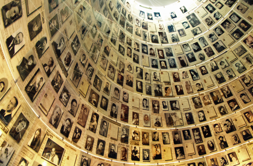 The Hall of Names at the Yad Vashem Holocaust museum in Jerusalem which houses an extensive educational program. (David Shankbone/Wikimedia Commons/via JTA)