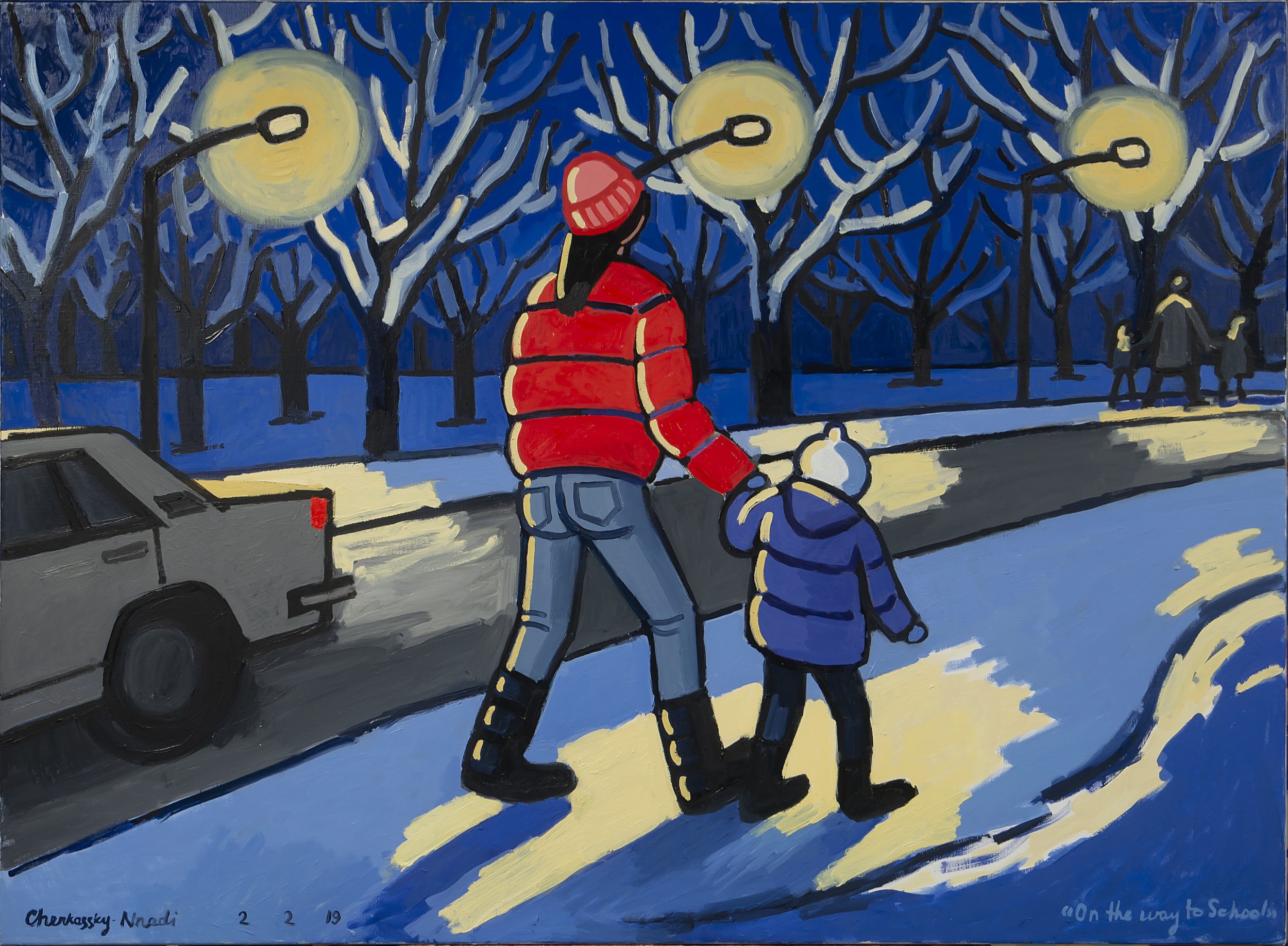 """Zoya Cherkassky, """"On the Way to School."""" Courtesy of the artist and Fort Gansevoort, New York"""
