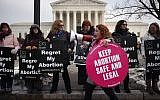 Protesters on both sides of the abortion issue gather in front of the U.S. Supreme Court building during the Right To Life March, on January 18, 2019 in Washington, DC. (Mark Wilson/Getty Images)