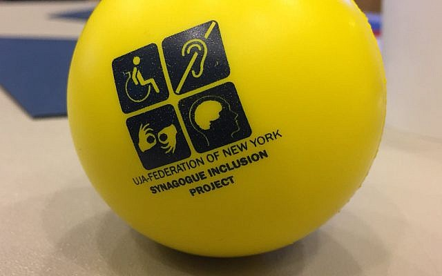 UJA-Federation's Synagogue Inclusion Project cool stress balls. Courtesy of Lisa Friedman