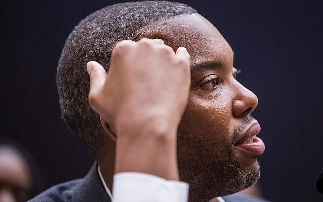 Author Ta-Nehisi Coates at last week's congressional hearing on African-American reparations. Getty Images