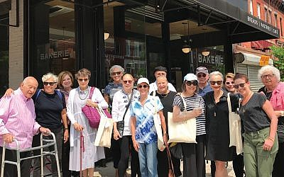 "Fern Penn's inaugural Crown Heights food tour earlier this month. ""Crown Heights has become a kosher food mecca,"" Penn says. Rachel Ringler"
