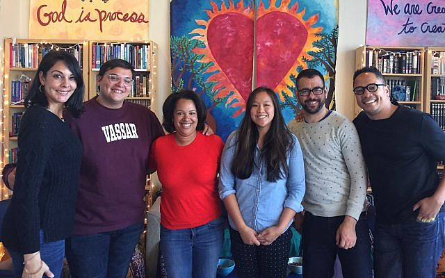 Participants in a think tank event hosted by the Jews of Color Field Building Initiative in Berkeley, Calif., which commissioned the new survey. Courtesy of Jews of Color Field Building Initiative