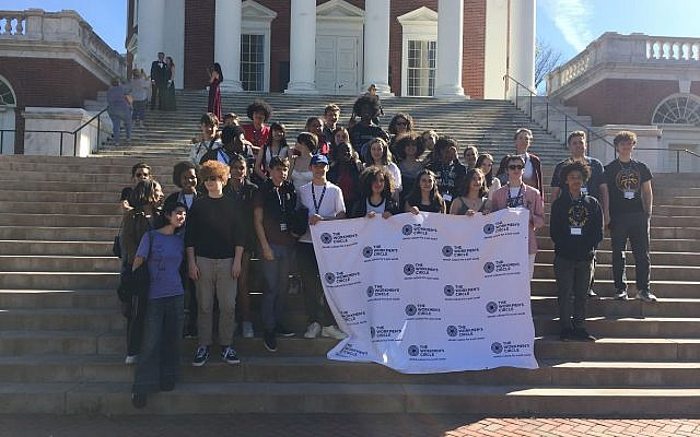 Middle and high school students during a Civil Rights trip hosted by The Workmen's Circle. Photo courtesy of Jonah Massey