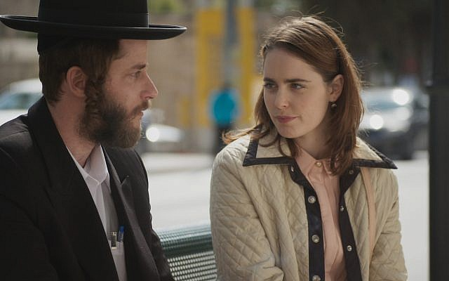 Michael Aloni as Kive in scene with Hadas Yaron as Libbi Shtisel. The show succeeded in giving those outside the charedi community a window into a seemingly closed world, thereby humanizing its inhabitants. (Aya Efraim)