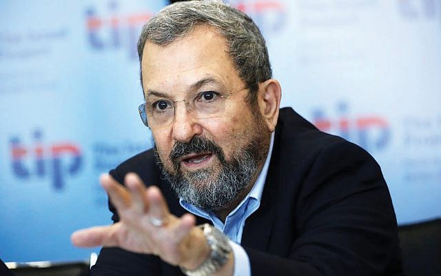 """""""This isn't the time for passivity … or to sit on the fence,"""" Barak said in announcing his comeback bid. Getty Images"""