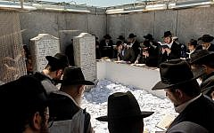 Thousands of Jews visited the gravesite of the Lubavitcher Rebbe last weekend to mark the 25th anniversary of his death.  Mark Abramson/Chabad.org via JTA