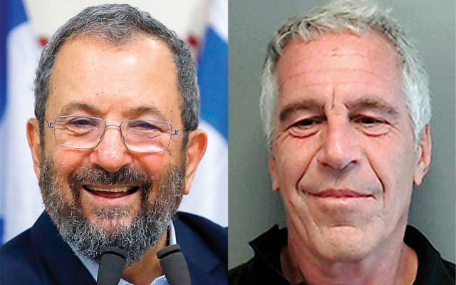 Photos of Ehud Barak, left, at convicted sex offender Jeffrey Epstein's mansion on the Upper East Side are not helping his effort to unseat Bibi Netanyahu.
