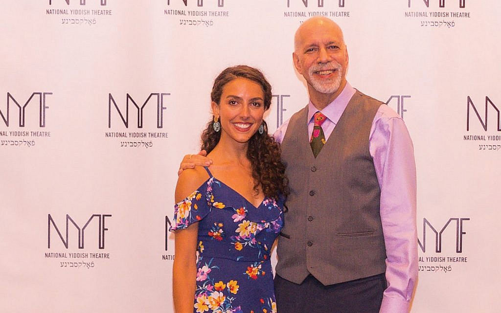 Lexi Rabadi, who plays Hannah Senesh, and the show's writer- director David Schechter. Victor Nechay