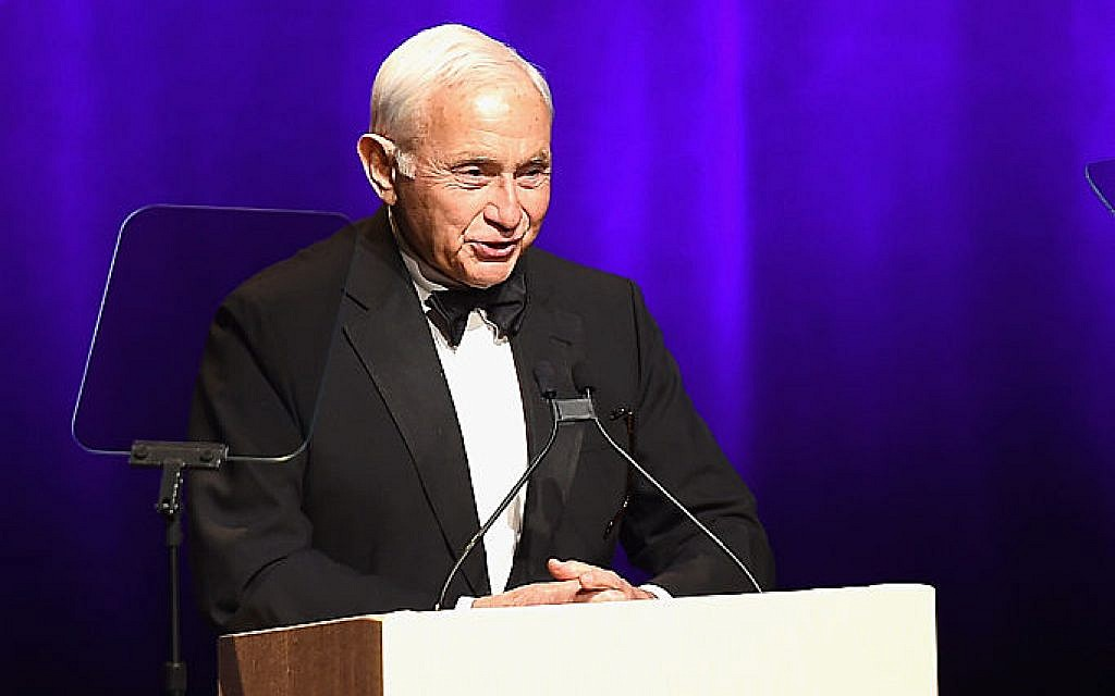 Les Wexner speaks onstage at the 2016 Fragrance Foundation Awards presented by Hearst Magazines. Wexner fellows are debating what to do with funds received from his organizations following news of his cozy relationship with Jeffrey Epstein. Getty Images