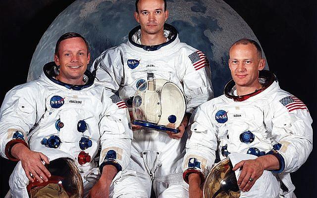 (L to R): Neil A. Armstrong, commander; Michael Collins, command module pilot; and Edwin E. Aldrin Jr., lunar module pilot. Getty Images
