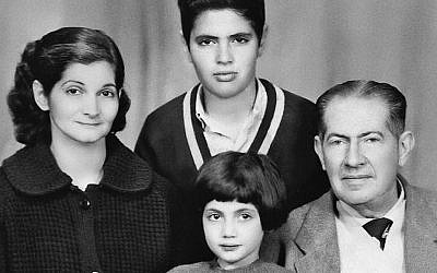 On the eve of leaving Egypt in the 1960s, Lucette Lagnado, then 6, and her family posed for a family portrait. (Lucettelagnado.com)