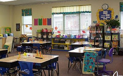 A classroom with learning centers. Courtesy of Lisa Friedman