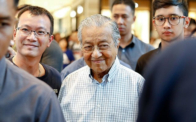 Prime Minister Mahathir Mohamad of Malaysia in Kuala Lumpur, Aug. 31, 2019. (Chris Jung/NurPhoto/Getty Images/via JTA)