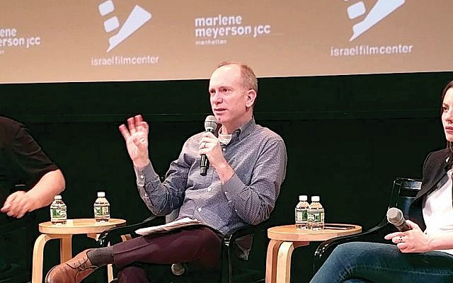 Israel Film Center chief Isaac Zablocki at recent event. Via YouTube