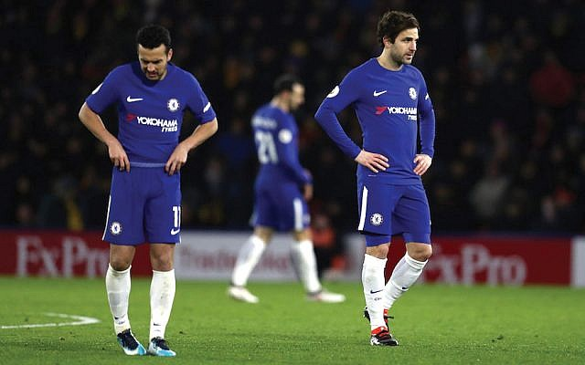 Members of the Chelsea soccer club in the English Premier League. The team's fans chanted anti-Semitic songs last year less than a week after the team started an anti-hate campaign. Getty Images