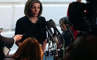 Speaker of the House Nancy Pelosi (D-CA) speaks to the media after a meeting with the House Democratic caucus one day after she announced that House Democrats will start an impeachment injury of U.S. President Donald Trump, on September 25, 2019 in Washington, DC. Getty Images