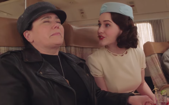 """Alex Borstein, left, and Rachel Brosnahan in the third season of """"The Marvelous Mrs. Maisel."""" (Screenshot from YouTube)"""