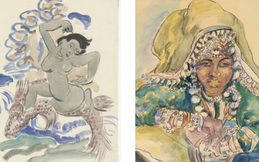 Two of Schneider-Kainer's watercolors.  Courtesy of Leo Baeck institute