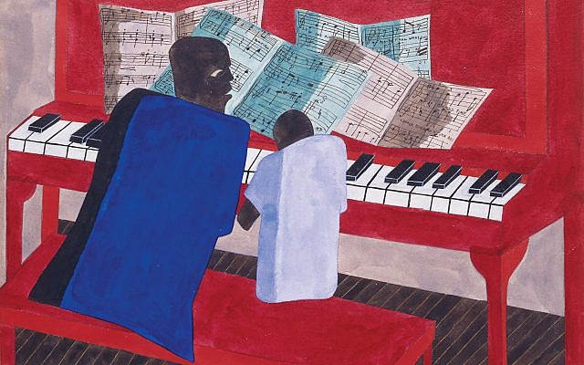 "Edith Halpert promoted the work of Jacob Lawrence, whose ""The Music Lesson"" is shown here. Artwork © The Jacob and Gwendolyn Knight Lawrence Foundation, Seattle / Artists Rights Society (ARS), New York"